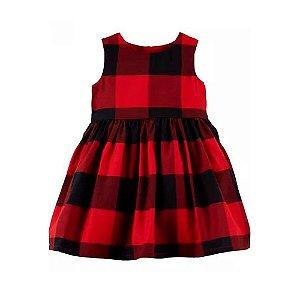 Vestido de Festa Xadrez Vermelho Carter's