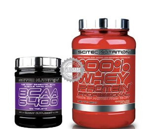 Kit Scitec Whey + Bcaa 6400
