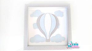 Quadro Decorativo em Papel 20x20 - Balão 3D