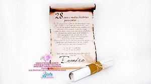 Convite Pergaminho Rústico - 05 Peças