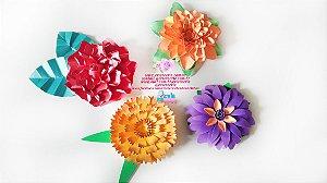 Flores Médias em papel