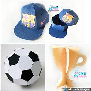 Kit Decorativo Futebol - 03 Peças