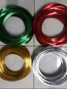 1 kg Arame liso alumínio colorido