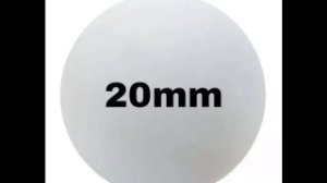 Bola de isopor 20 mm c/100 unds.