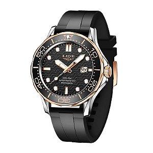 Relógio Masculino Lige 8936 Pulseira de Silicone