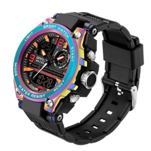 Relógio Masculino Display Híbrido SANDA 6024 50m