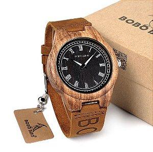 Relógio de Madeira Masculino - BOBO BIRD BBEO30