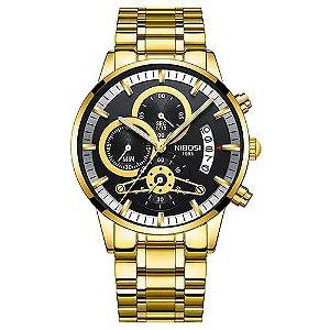 Relógio Dourado NIBOSI 2309-1 Esportivo