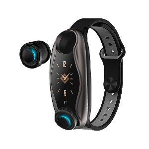 Pulseira Relógio Inteligente + Fone de Ouvido Bluetooth 5.0