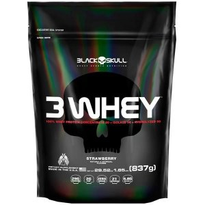 3 Whey Black Skull 837g Refil