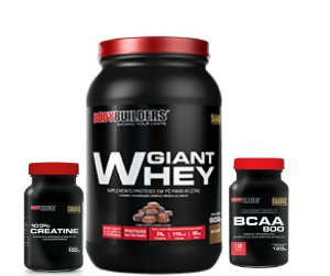 COMBO GIANT WHEY 900g BODYBUILDERS