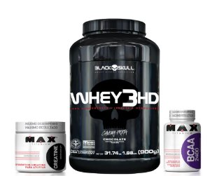 Combo Whey 3HD + Creatina + Bcaa