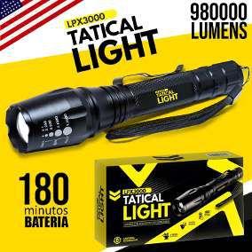Lanterna Tática à Bateria com LED Militar LPX 3000 - 980.000 Lummens