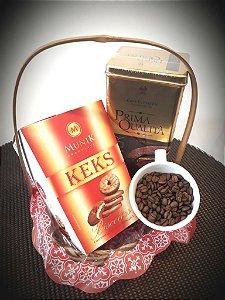 Cesta Café e Biscoitos de Chocolate