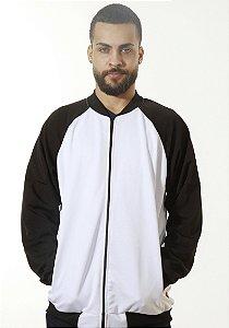 Jaqueta Helanca Branca/Preta Daily Wear