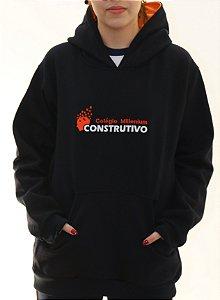 BLUSA MOLETON FECHADA CONSTRUTIVO AZUL MARINHO
