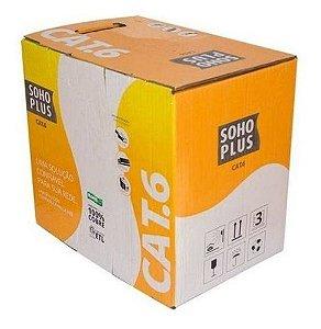 Cabo Utp CAT6 Soho Plus Anatel 100% Cobre Caixa C/100mts