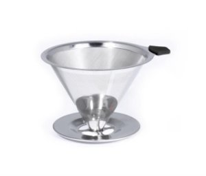 Pour over em aço inox Bialetti