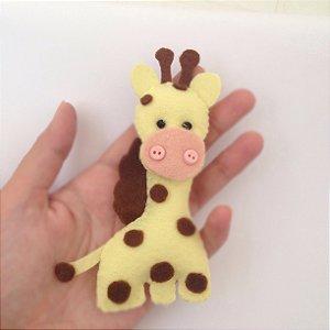 Chaveiro Girafinha -  Kit 10 Lembracinhas Feltro