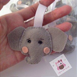 Chaveiro Elefante -  Kit 10 Lembracinhas Feltro