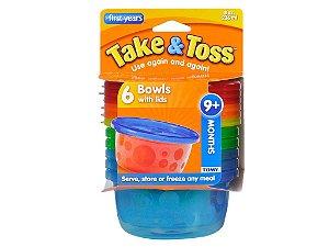 Kit 6 Potes Infantis com tampa First Years 236ML