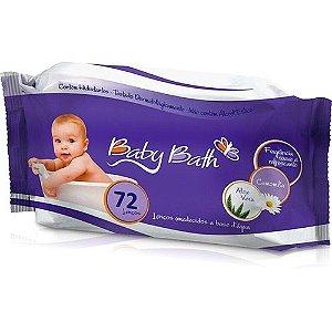 Lenços Umedecidos Baby Bath -  72 unidades