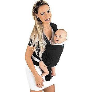 Canguru para Bebê Sling Wrap Line Preto 3 Posições KaBaby