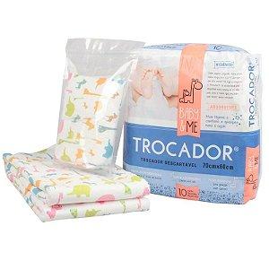 Trocador Descartável Absorvente Baby and Me 10 unidades