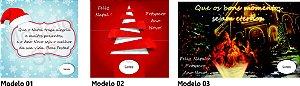 Cartão de Boas Festas Virtual Personalizado com Foto ou Logotipo