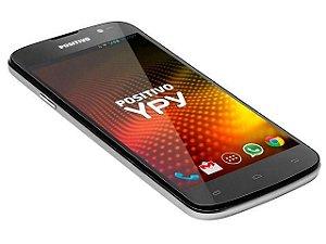 CELULAR POSITIVO  YPY S500 SMARTPHONE PRETO/PRATA DUAL CHIP TELA 5.0 CAM 5MP WIFI 3G BLUETOOTH ANDROID 4.2