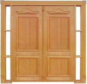 Porta de Abrir (Giro) Realeza 030 C/ Visor C/ 2 Folhas em Madeira Cedro Arana S/ Ferragem Batente 14 Cm - Casmavi