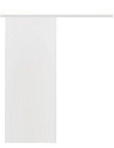 Porta Lisa HDF com primer de correr no trilho branco sem fecho e sem batente - UNIPORTAS