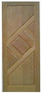 Folha de Porta de Abrir (Giro) em Madeira Cedro Arana Maciça Trapézio - Casmavi