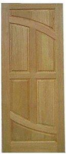 Folha de Porta de Abrir (Giro) em Madeira Cedro Arana Maciça Luna - Casmavi