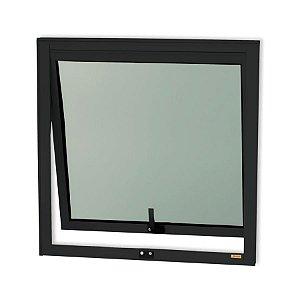 Maxim-Ar 1 Seção em Alumínio Preto c/ Vidro Mini Boreal - Brimak Confort