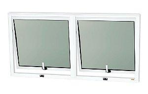 Maxim-Ar 2 Seções em Alumínio Branco c/ Vidro Mini Boreal - Brimak Confort