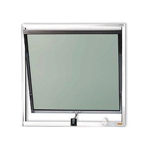 Maxim-Ar 1 Seção em Alumínio Brilhante c/ Vidro Mini Boreal - Brimak Plus