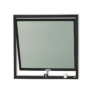 Maxim-Ar 1 Seção em Alumínio Preto c/ Vidro Mini Boreal - Brimak Plus