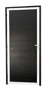 Porta Lambril Fechada em Alumínio Mix Preto S/ Vidro - Brimak Super 25