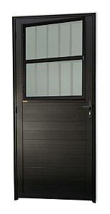 Porta Lambril Social C/ Grade em Alumínio Preto C/ Vdr. Mini Boreal - Brimak Super 25