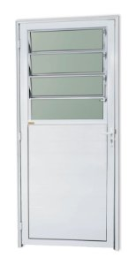 Porta Lambril Basculante em Alumínio Branco C/ Vdr. Mini Boreal - Brimak Super 25
