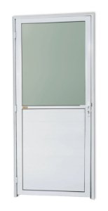 Porta Meia Lambril Meia Vidro em Alumínio Branco C/ Vdr. Mini Boreal - Brimak Super 25
