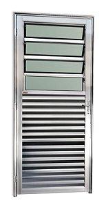 Porta Basculante em Alumínio Brilhante c/ Vidro Mini Boreal - Brimak Super 25