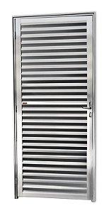 Porta Fechada Palheta em Alumínio Brilhante - Brimak Super 25