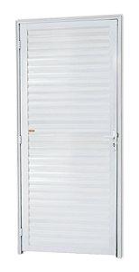 Porta Fechada Palheta em Alumínio Branco - Brimak Super 25