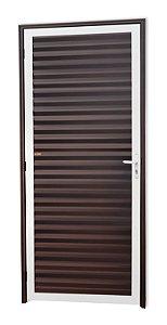 Porta Fechada Palheta em Alumínio Mix Corten - Brimak Super 25