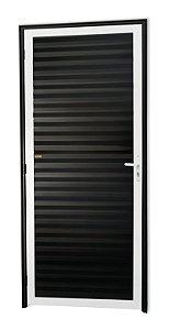 Porta Fechada Palheta em Alumínio Mix Preto - Brimak Super 25