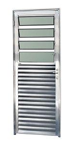 Porta C/ Basculante em Alumínio Brilhante C/ Vdr. Mini Boreal - BRIMAK L-25