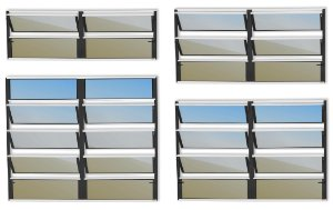 Basculante 2 Seções em Alumínio Mix Preto c/ Vidro Mini Boreal - Brimak Plus