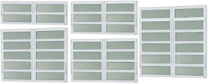 Basculante 2 Seções em Alumínio Branco c/ Vidro Mini Boreal - Brimak Elite
